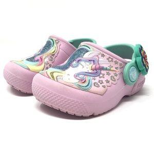 Kids Unicorn Crocs Size 5